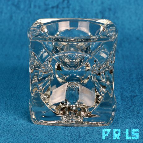 kristallen kandelaar Floris Meydam glasfabriek Leerdam