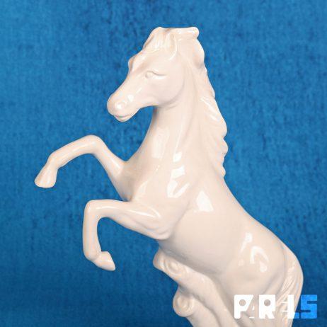 beeld porselein wit steigerend paard keramiek