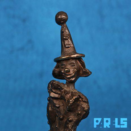 verbronsde clown sculptuur beeldje Corry Ammerlaan Artihove cliniclowns