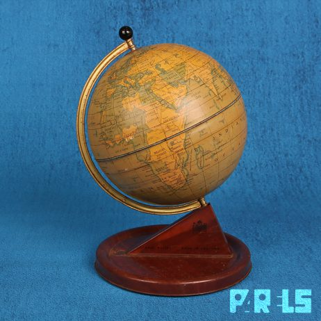 vintage metalen blikken globe wereldbol Chad Valley England Engeland metaal aarde