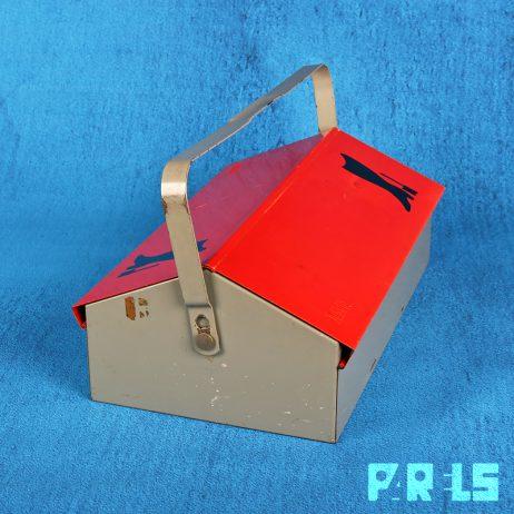 vintage metalen WEMA industriële schoenpoetskist toolbox gereedschapskist Wilhelm Kienzle Bauhaus industrieel