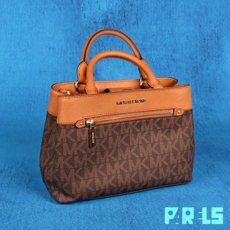 Michael Kors design handtas XS Satchel 35S8Gx2S1B Brown/Acorn modeontwerper authentiek echt tas leer