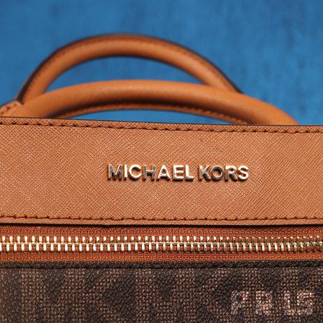 Michael Kors design handtas XS Satchel 35S8Gx2S1B Brown/Acorn modeontwerper authentiek echt tas leer