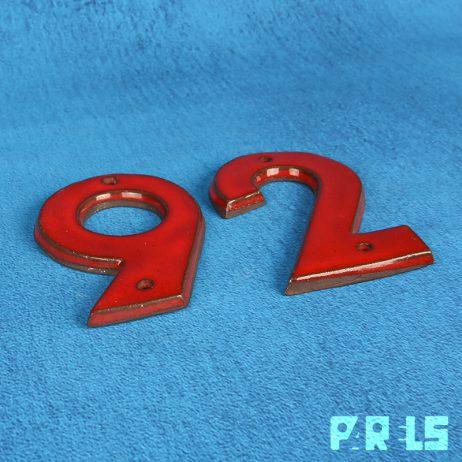 vintage set huisnummers keramiek 2 6 9