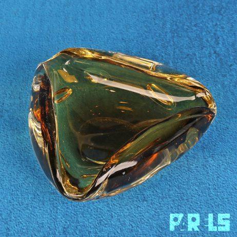 vintage glazen asbak W. Johanssen Orrefors Sweden Zweden gesigneerd kristal