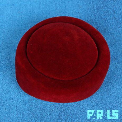 vintage pillbox hoedje stewardessen hoed vilt