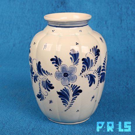 vaas Delfts blauw molen/bloemen