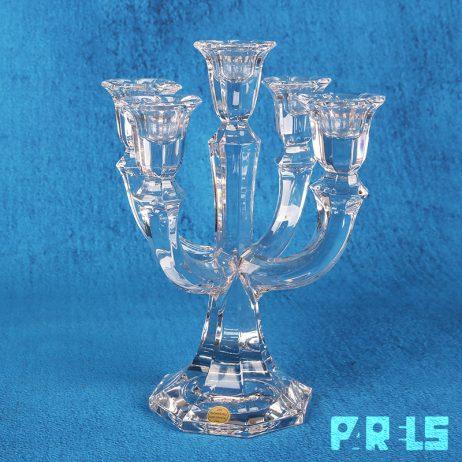 Kristallen kandelaar glas tafelkaarsen