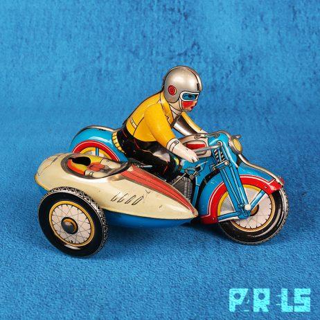 vintage blikken speelgoed motor zijspan opwindmechanisme MS709 China
