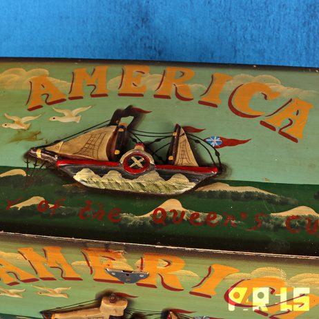 houten kist beschilderd america