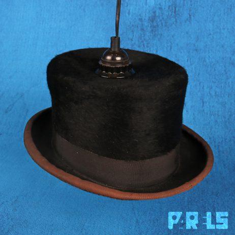 vintage hoge hoed upcycling hanglamp