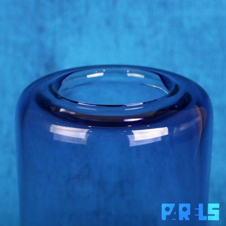 glazen designvaas Gunther Lambert gesigneerd glas paars modern ontwerp