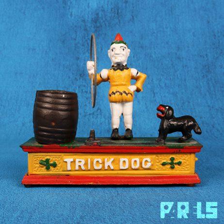 nostalgische mechanische spaarpot Trick Dog gietijzer replica munt hond sparen geld