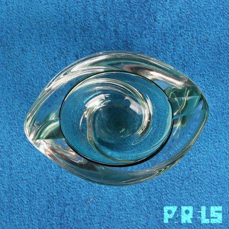 vintage kristallen asbak Max Verboeket Kristalunie Maastricht