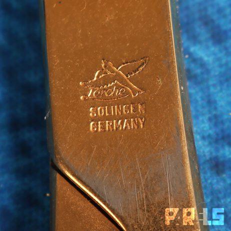 luxe vintage vergulde bureauset schaar briefopener loep goud Lerche Solingen West Duitsland Germany