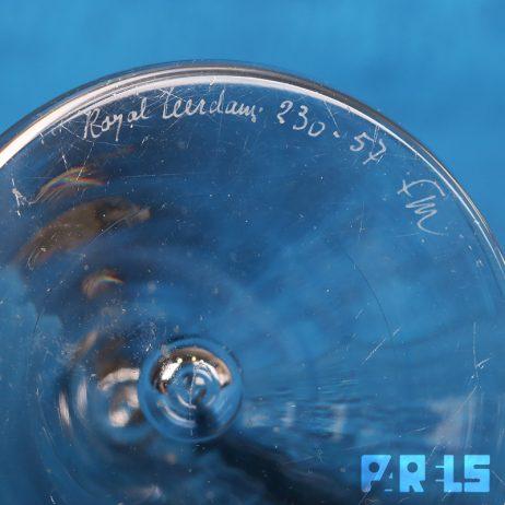 set kristallen presse papiers vintage Floris Meydam Royal Leerdam gesigneerd conisch piramide glasfabriek
