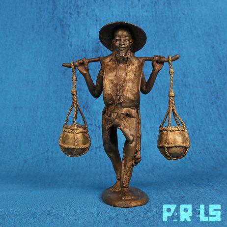 Aziatisch Chinees waterdrager beeldje sculptuur