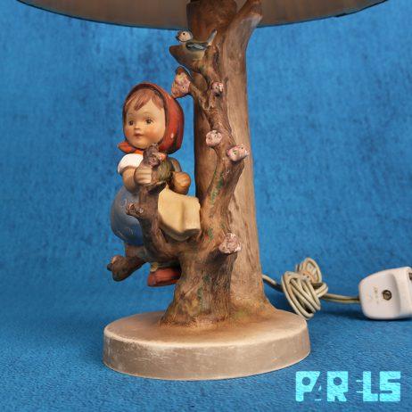 goebel 229 tafellamp hummel appelboom meisje west germany duitsland