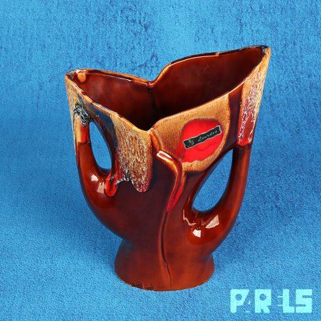 vintage abstracte vaas Vallauris keramiek Frankrijk fifties fat lava jaren 50 Picasso kunstenaars asymmetrisch glazuur