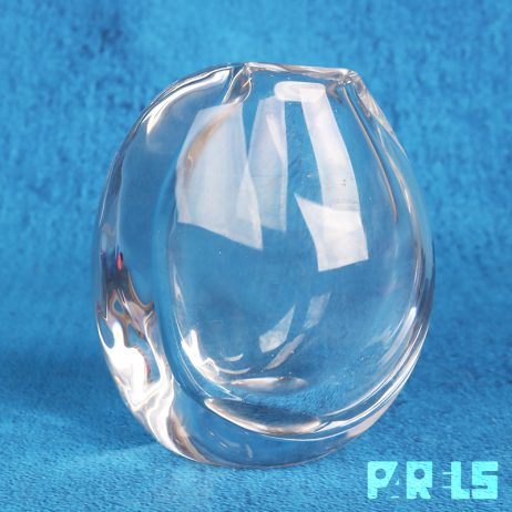 vintage kristallen vaasje Kosta Boda Zweden ontwerper Göran Wärff gesigneerd