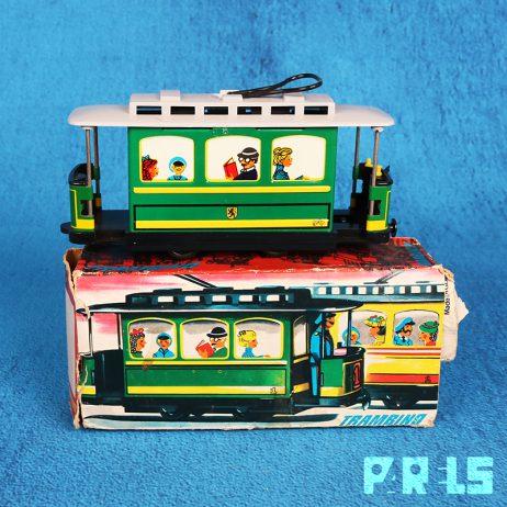 Trambino vintage blikken tram wagon Grip GDR Oost-Duitsland