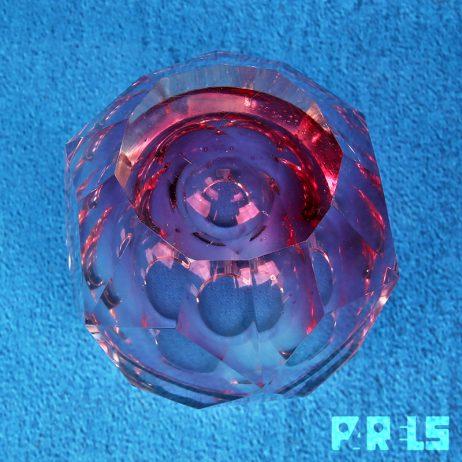 facet geslepen vaas fuchsia roze glas