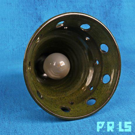 vintage hanglamp keramiek space age kap lamp licht