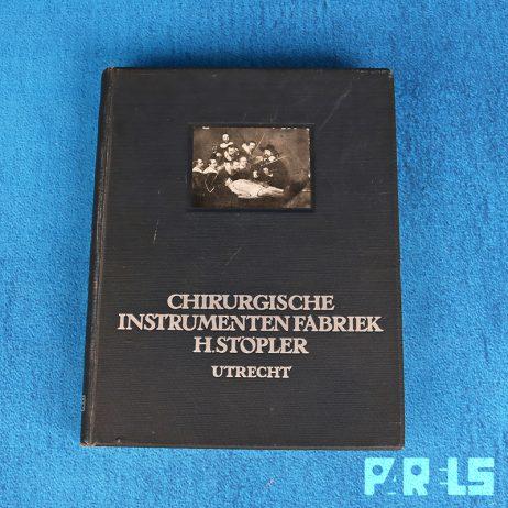 boek chirurgische instrumenten fabriek H. Stopler 1924