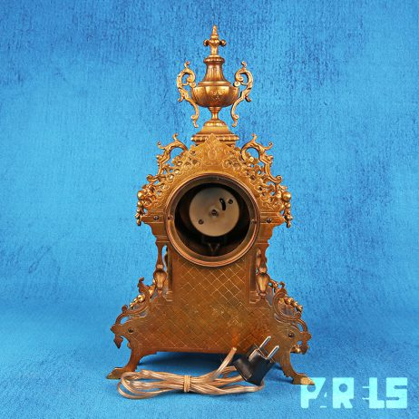antieke tafelklok vintage sierlijk klassiek barok uurwerk goud klok tijd