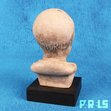 stenen buste Hippocrates, grondlegger Westerse geneeskunde Kos Grieks Griekenland steen beeldje