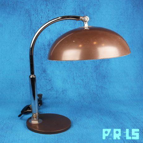 Vintage industriële Bureaulamp H. Busquet Hala Zeist stoer industrieel Bauhaus