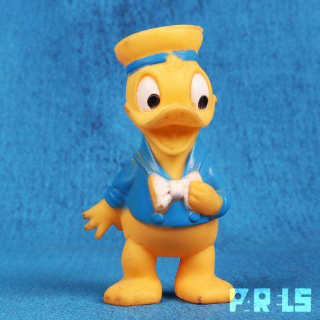 vintage rubberen Donald Duck piepfiguur pieper Walt Disney 1510