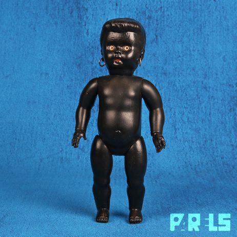 zeldzame vintage plastic neger donker pop Hong Kong black doll girl zeldzaam