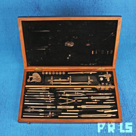 Richter & Co Präcision Passerset 1917 vintage passer kist