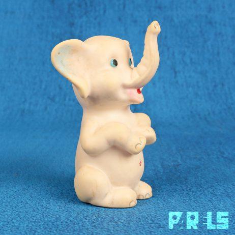 vintage olifant piepfiguur rubbertoys italy