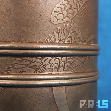 antieke zeldzame tinnen Chinese theebus China traditioneel thee tabak tin tabakspot pewter