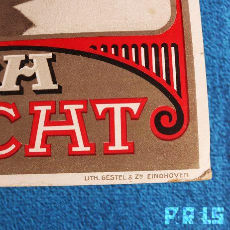 zeldzaam kartonnen bier reclame bord bierbrouwerij de Keyzer Bosch Maastricht Gestel Eindhoven