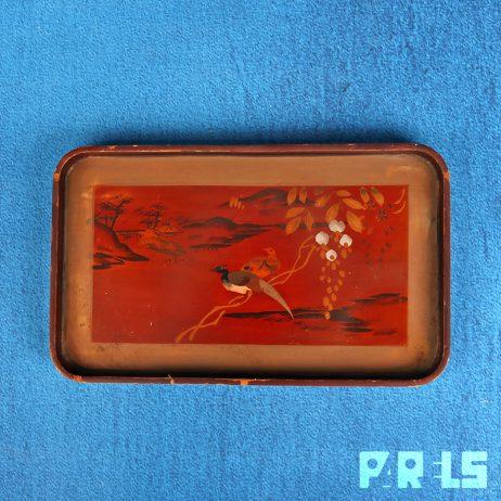 Japans houten dienblad handgemaakt beschilderd Japan gelakt