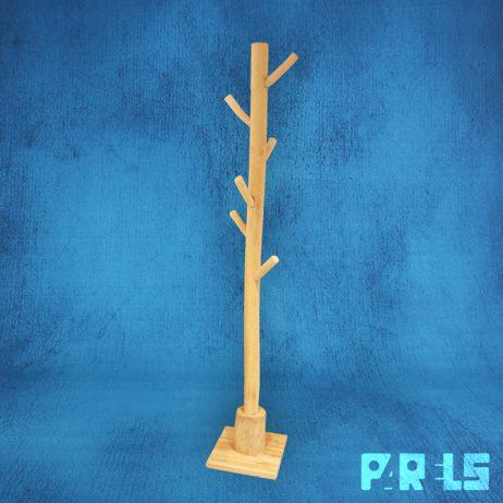 staande naturel kapstok teakhout hout