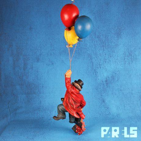 jun asilo hangende clown aan ballonnen Brazilië jaren '90