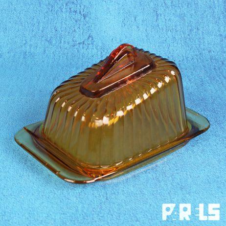 a.d.copier art deco leerdam kaasstolp jaren 30 oranje amber glas