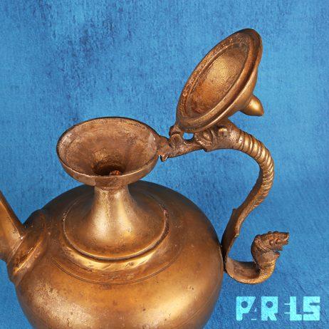 grote zware antieke Perzische koperen kan Aftebehs groot zwaar traditioneel Perzië schenkkan islamitisch moslims traditie