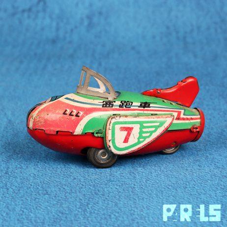 vintage blikken vliegtuig MF039 China speelgoed tractie Racer