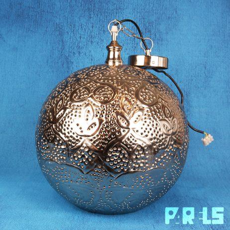 Oosterse metalen hanglamp filigrain metaal licht gaatjes