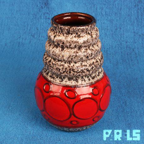 vintage vaas keramiek Scheurich Keramik West Duitsland Germany lavaglazuur Wien 269-22 Heinz Sier