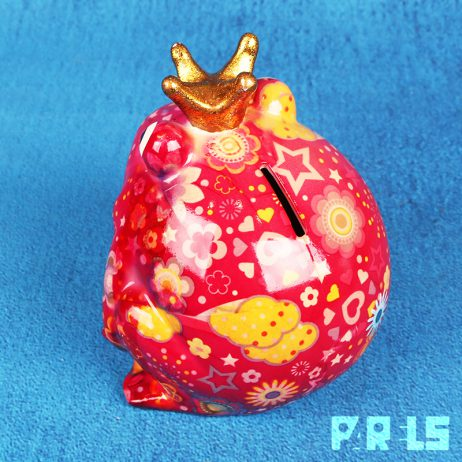 spaarpot kikker pad Freddy Pomme Pidou Flowers In Bloom Candypink sparen geld