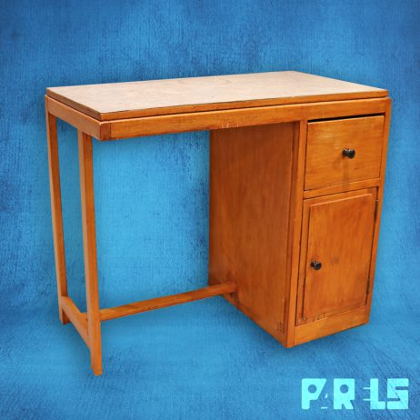 antiek houten kinderbureau stoel solide degelijk jaren '40 '50 hout bureau