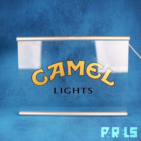 lichtreclame plexiglas acrylaat Camel Lights sigaretten reclamebord